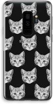 Samsung Galaxy S9 Plus Transparant Hoesje (Soft) - Kitten