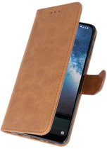 Wicked Narwal | bookstyle / book case/ wallet case Wallet Cases Hoes voor Nokia 2.2 Bruin