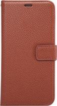 Mobigear Litchi Wallet Book Case Premium Brown voor Samsung Galaxy S6 Edge Plus
