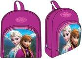 Disney Frozen rugzak Anna en Elsa met voorvak paars roze