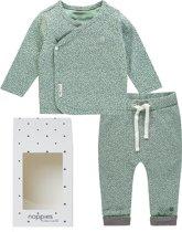 Noppies Unisex Set(2delig) Overslag shirt en Legging Groen - Maat 50