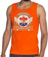 Oranje Holland drinking team tankop / mouwloos shirt oranje heren -  Nederland/supporter kleding 2XL