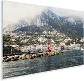 Zicht op de berg vanuit zee in Capri Plexiglas 30x20 cm - klein - Foto print op Glas (Plexiglas wanddecoratie)