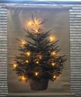 Kerstboom op canvas inclusief verlichting S
