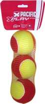 Pacific X Play Stage 3 - Tennisbal - 3er net - Geel/Rood