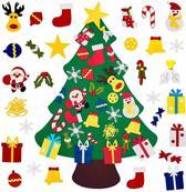 Vilten Kerstboom – Inclusief Vilten Kerststickers En Klittenband –  Speciaal Voor Kinderen - Kerstcadeau