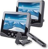 Autovision AV1101 - Portable DVD-speler met 2 schermen en 1 speler - 7 inch - Zwart