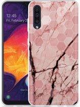 Galaxy A50 Hoesje Pink Marble