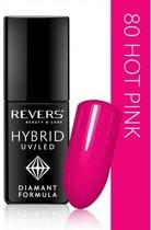 REVERS® Hybrid Nail Polish UV/LED 6ml. #80 Hot Pink