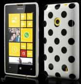 Dots silicone case hoesje Nokia Lumia 520 wit