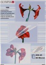 1x100 Olympia lamineerfolie DIN A5 80 micron 9167
