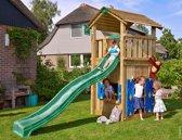 Jungle Gym - Cottage Playhouse 145 - Speelhuis voor Buiten - Met Glijbaan - Donkergroen