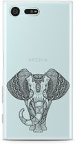 Sony Xperia X Compact Hoesje Elephant Mandala Black