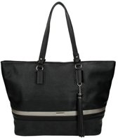 David Jones Shopper Handtas Schoudertas Zwart Trendy Tas