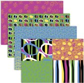 Decoupagepapier, vel 25x35 cm,  17 gr, vrolijke kleuren, 8div vellen