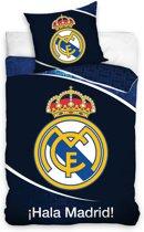 Carbotex Dekbedovertrek Real Madrid 140x200 Cm Zwart