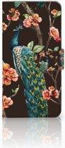 Samsung Galaxy S7 Edge Boekhoesje Design Pauw met Bloemen