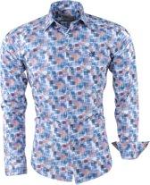 Ferlucci - Heren Overhemd - Geblokt - Calabria - Wit
