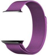KELERINO. Milanees bandje - Apple Watch Series 1/2/3/4 (38&40mm) - Paars