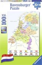 Ravensburger puzzel Nederland kaart CITO - Legpuzzel - 100 stukjes
