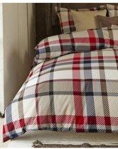 Beddinghouse Sherlock Dekbedovertrek - Flanel - Tweepersoons - 200x200/220 cm - Red