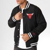 441b56f559 New Era NBA Team Apparel Bomber Chicago Bulls Jas Heren - Black - Maat L