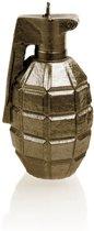 Brons gelakte figuurkaars, design: Granaat  Hoogte 11 cm (12 uur)