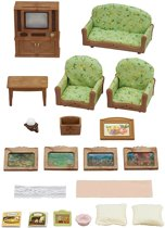 Sylvanian Families 5287 Woonkamer En Tv Set  - Speelfigurenset
