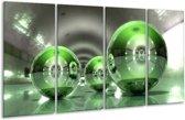 Glasschilderij Modern | Groen, Wit | 160x80cm 4Luik | Foto print op Glas |  F004296