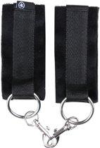 Ouch! Klittenband Handboeien met Fluwelen Binnenzijde voor Comfortabel Draagcomfort - Zwart
