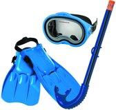 Intex - Duikbril/Snorkel/Flipper Set - 8+ jaar - Blauw