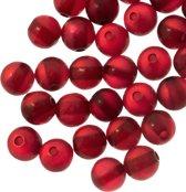 Resin Kralen (6 mm) Bright Red Shine (50 Stuks)