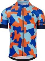 AGU Fietsshirt Camo Tile - Heren - Maat M - Blauw