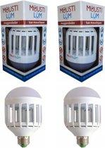 2 stuks Anti muggen led lampen E27 Anti vliegen 600 lumens Muggendoder lamp anti mug