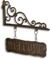 Welcome - uithangbord - metaal - welkom