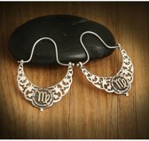 Biggdesign Virgo Zodiac zilveren oorbellen voor dames | Bronzen detail | Horoscooppictogram | Speciale sieraden voor horoscoop | Verjaardagscadeau | Speciaal ontwerp | 925 sterling zilver