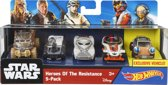 Hot Wheels Star Wars Karakter Auto's - 5 pack