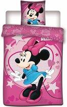 Disney Minnie Mouse Stars - Dekbedovertrek - Eenpersoons - 140 x 200 cm - Polyester