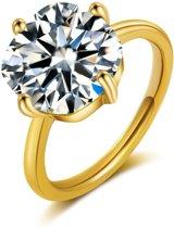 ÉGLANTINE Ring Goud-Zilver Kristal - Maat 57