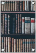 Tuinposter –Ouderwetse Boeken– 60x90cm Foto op Tuinposter (wanddecoratie voor buiten en binnen)