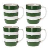 Cornishware Mugs Adder Green 12oz/34cl (set van 4)