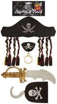 Piratenset - Captain Jack -  5 stuks