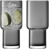 LSA International Utility Drinkglas - 390 ml - Set van 2 Stuks - Grijs