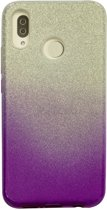 Huawei P20 Lite Semi Glitter telefoonhoesje - Paars