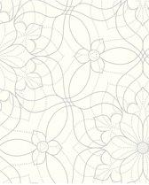 Eclipse Venus wit/zilver behang (vliesbehang, wit)