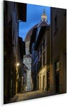 Donker straatje met op het einde de Dom van Florence van Italië Plexiglas 120x180 cm - Foto print op Glas (Plexiglas wanddecoratie) XXL / Groot formaat!
