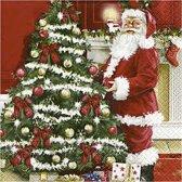 Servetten afm 33x33 cm nostalgische Kerst 20stuks