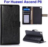 SoFetch - Huawei P8 Hoesje - Bookcase - Glad - Zwart