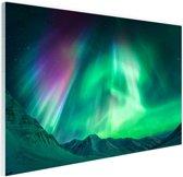 Noorderlicht in Alaska Glas 60x40 cm - Foto print op Glas (Plexiglas wanddecoratie)