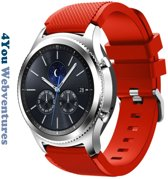 Rood Siliconen Bandje voor 22mm Smartwatches van Samsung, LG, Seiko, Asus, Pebble, Huawei, Cookoo, Vostok en Vector – 22 mm rubber smartwatch strap - Gear S3 - LG Watch